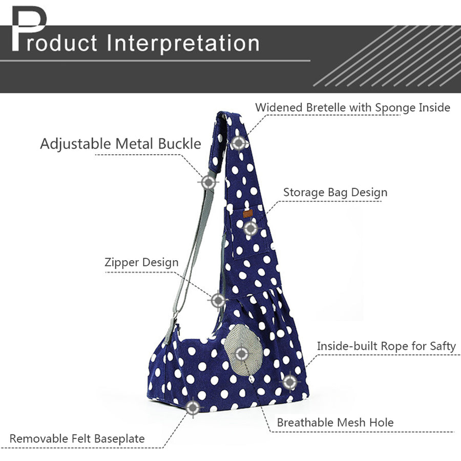 interpretation of Qbleev wide strapped dog sling with wave points and ventilation mesh