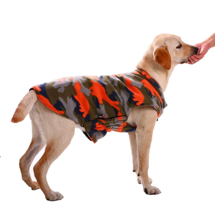 Reversible Dog Coat,Winter Autumn Pet Clothes  for Large Medium Dogs