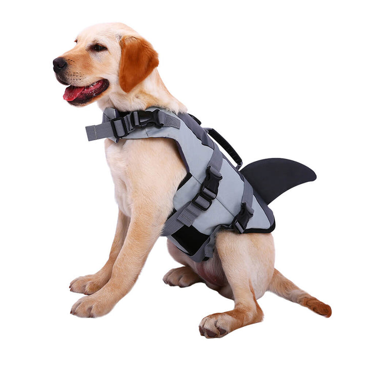 Qbleev dog life jacket shark grey