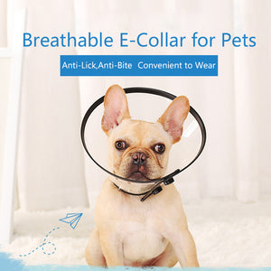 Qbleev adjustable recovery dog collar anti-bite and anti-lick