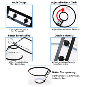 design of Qbleev adjustable recovery dog collar anti-bite and anti-lick