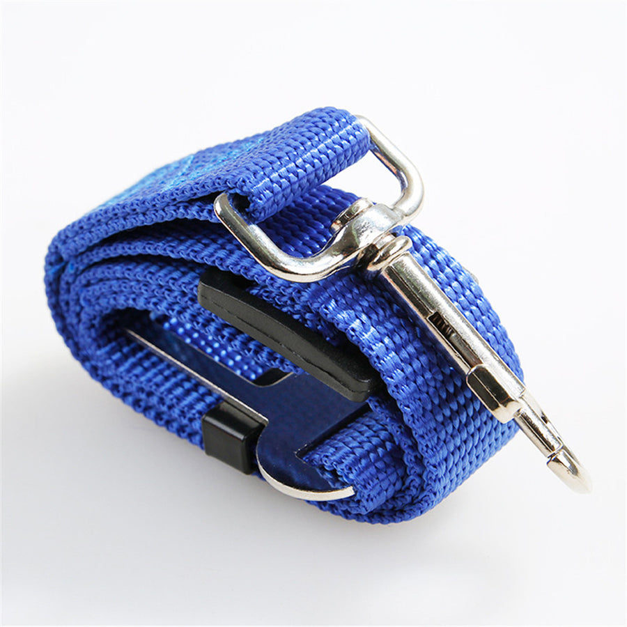 Folded Qbleev dog seat belt rope retractable blue