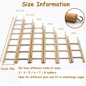 BIRD TOY LADDERS SIZE INFORMATION