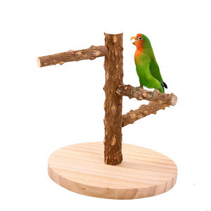 Qbleev Wooden Parrot Playgym Perch