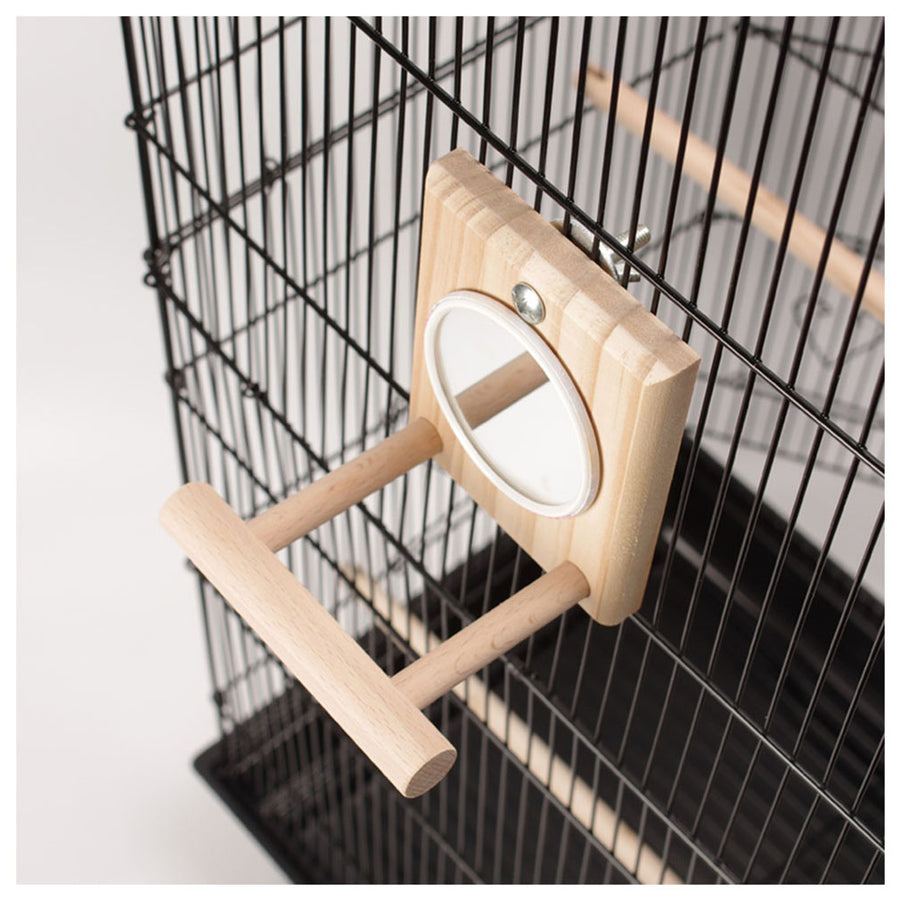Parrot Cage Mirror & Chew Bell Toys