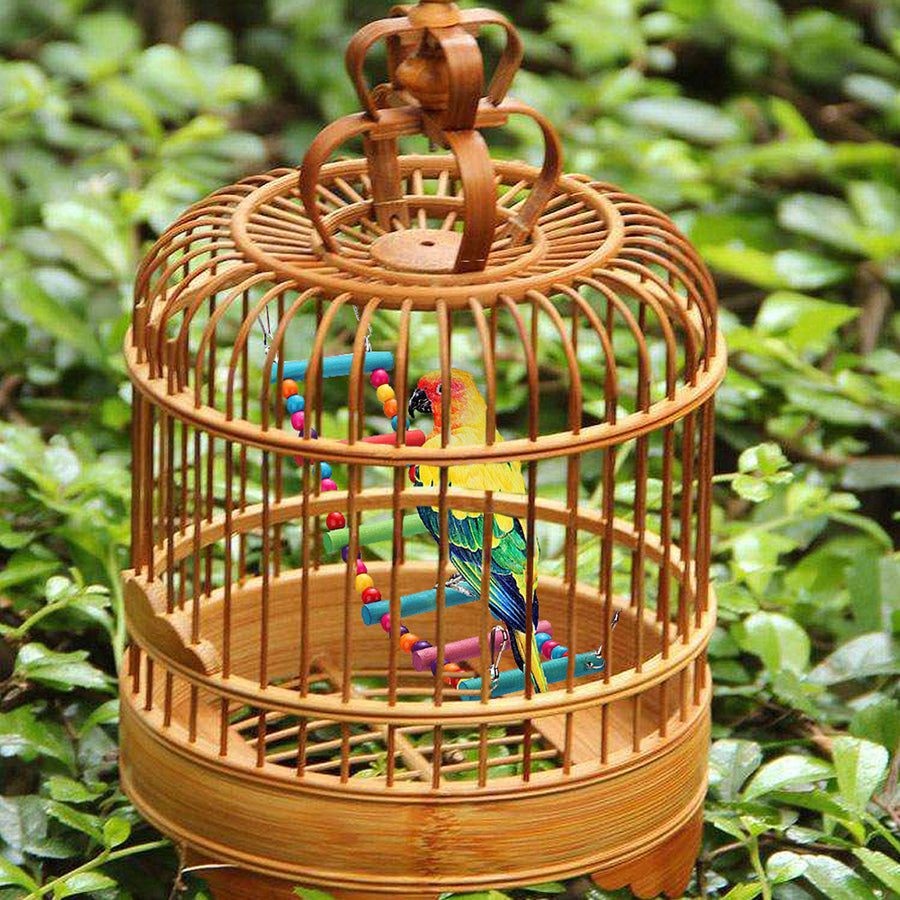 BIRD TOY LADDER HANG IN A BIRD CAGE