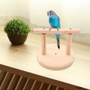 BIRD WOODEN PERCH