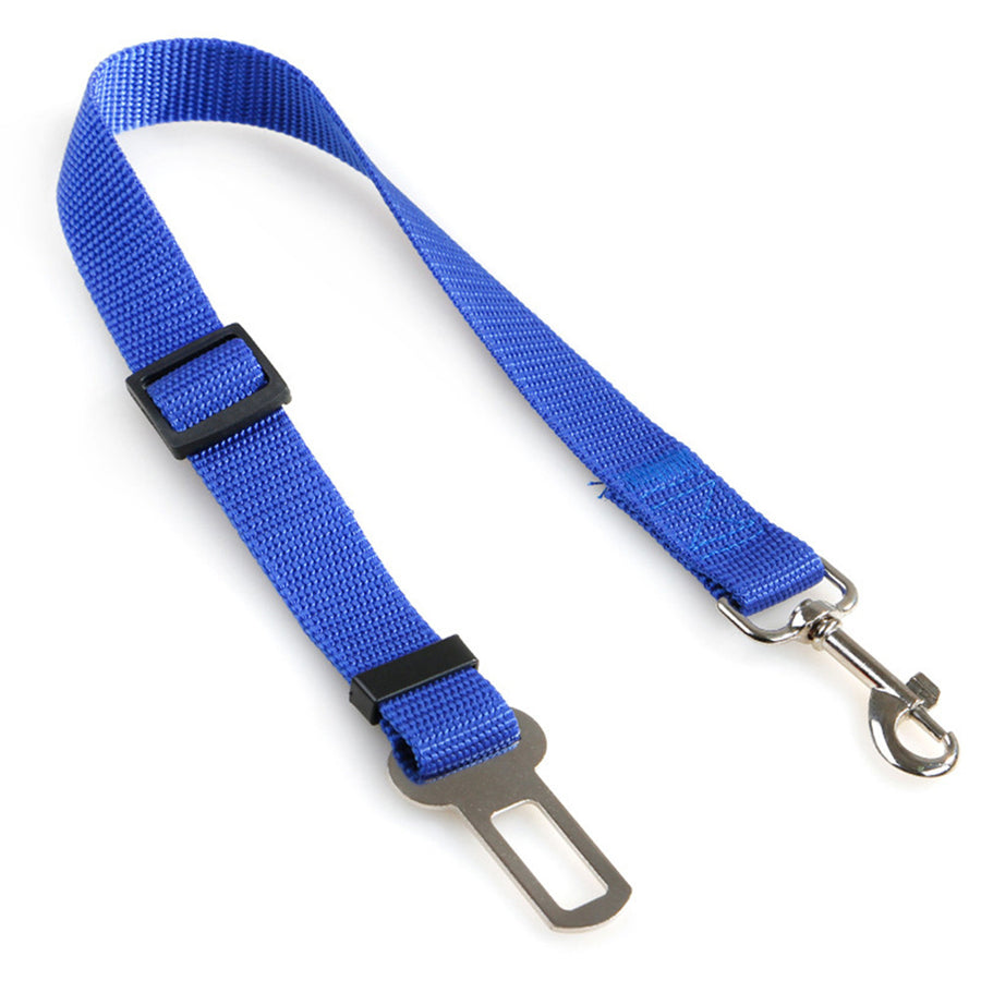 Qbleev dog seat belt rope retractable black blue
