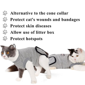 Pet Cat Recovery E- Collar Suit