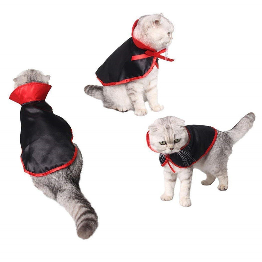Pet Dog Vampire Cloak Design Suits For Halloween And Cosplay Clothes