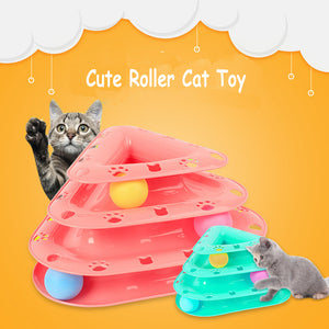 Cat Roller Toy With 3-Level Tower Ball & Track