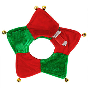 Pet Cat Christmas Triangle Scarf  with 5 Bells