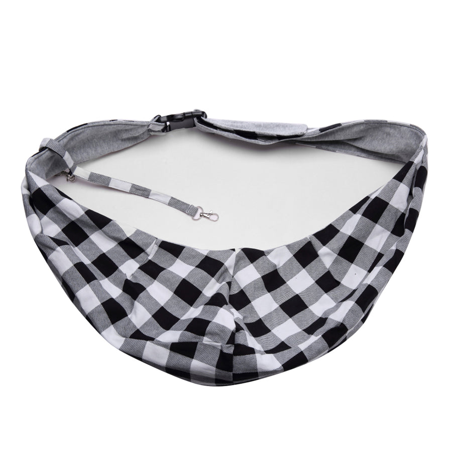 Qbleev soft canvas dog sling with pockets
