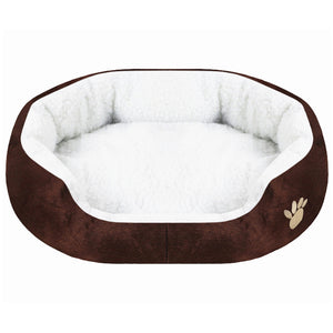 paw print comfy dog bed caffe QBLEEV
