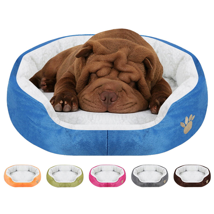 paw print comfy dog bed QBLEEV