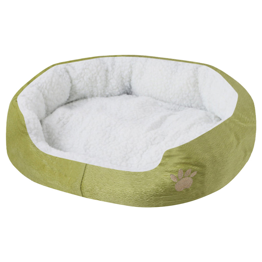 paw print comfy dog bed green QBLEEV