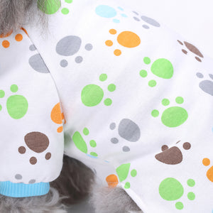Four-Legged Dog Pajamas Knitted QBLEEV green and brown