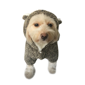 Lovely Puppy Dog Clothes Hoodie Bear Bunny Design Dog Vest In Winter