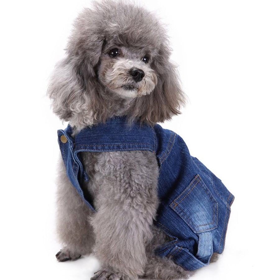 Dog Coat Cute Puppy Jeans Four Toes Dog Clothes