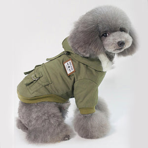Pet Dog Hooded Jacket Puppy Winter Coat For Outside