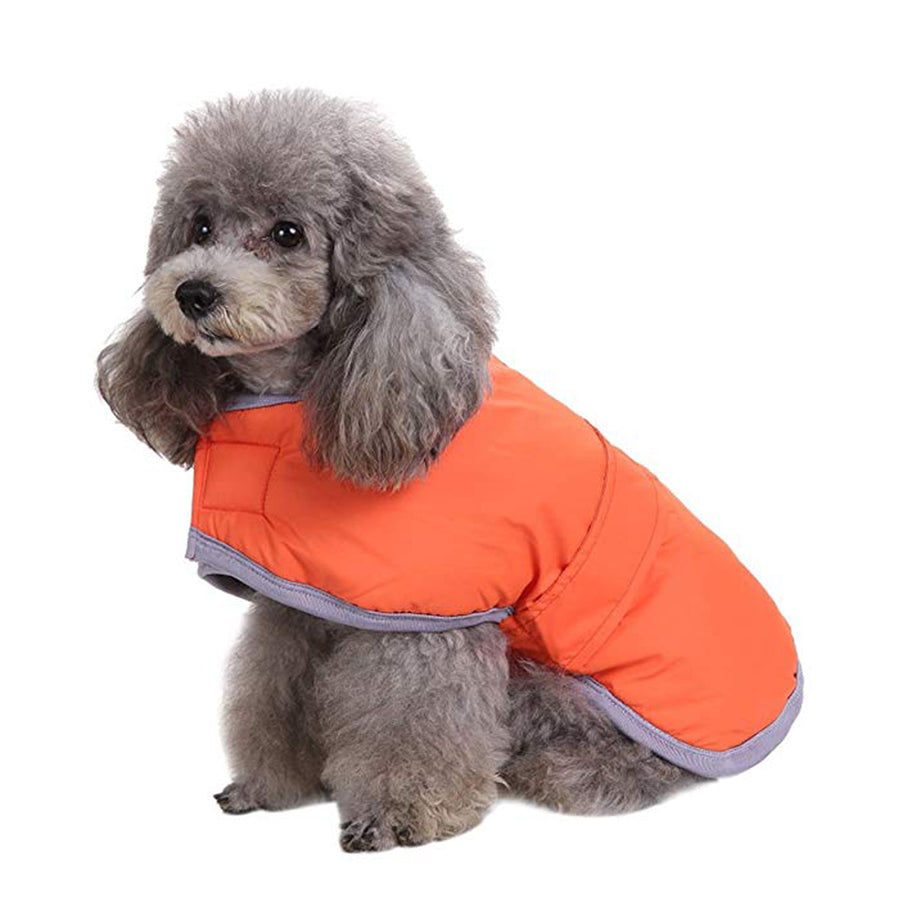 Dog Cold Weather Coats Pet Loft and Reversible Winter Fleece Dog Vest Waterproof Pet Jacket