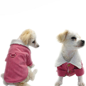 Pet Dog Thickened Cotton Wool Turtleneck Sweater Winter Coat