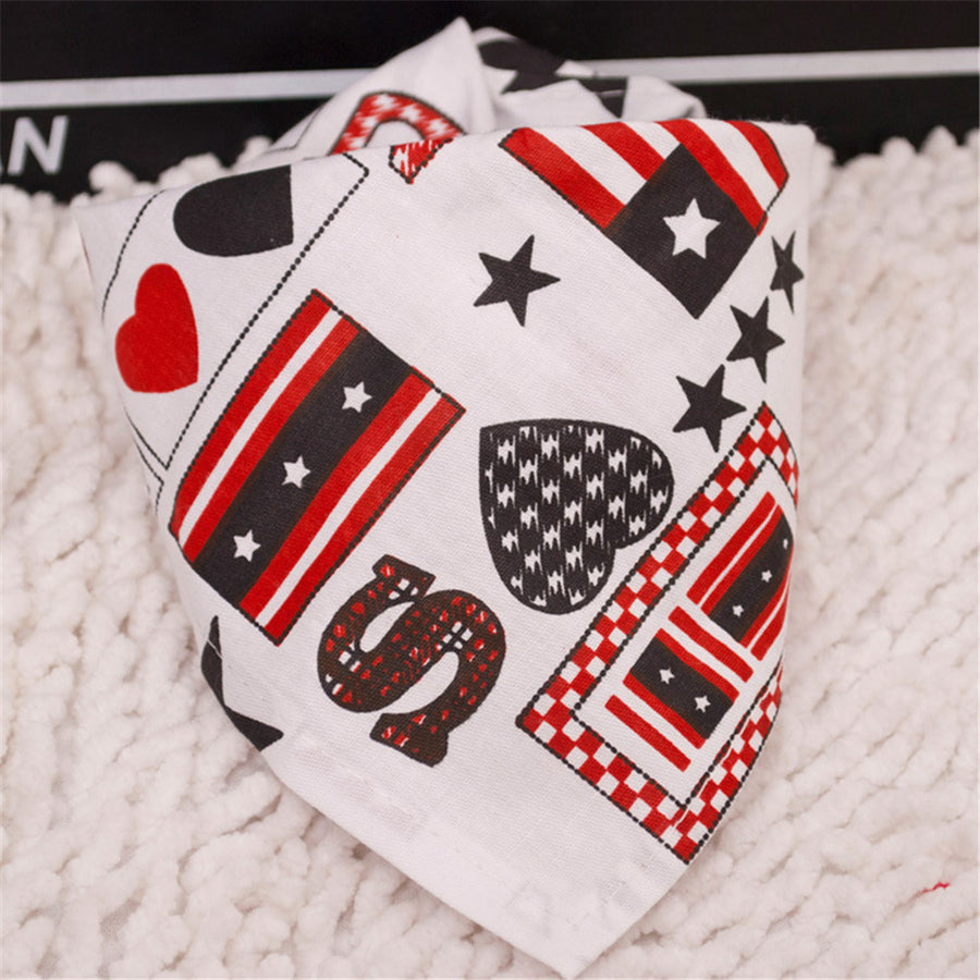 holiday USA dog bandanas in triangle shape