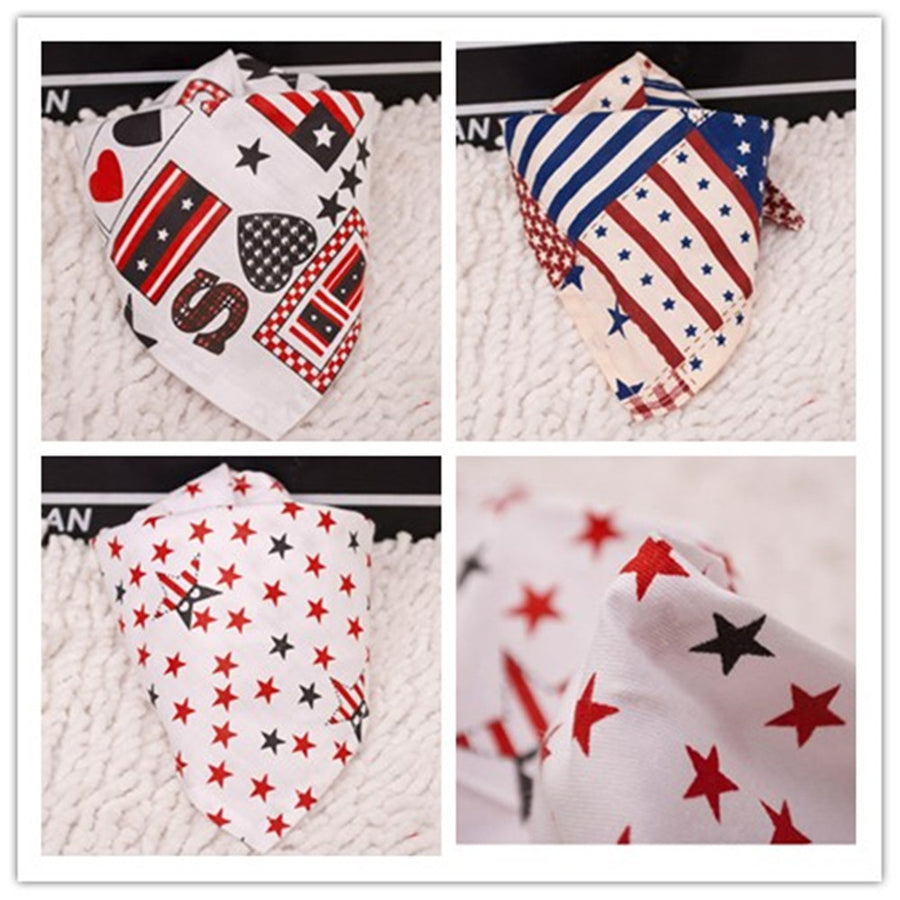 3 PCS holiday USA dog bandanas