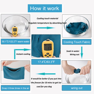 workflow of Qbleev Instant Cooling Dog Bandana Collar