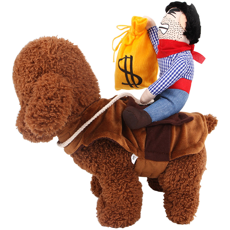 Pet dog Cowboy Rider  Halloween Cosplay Costume Coat