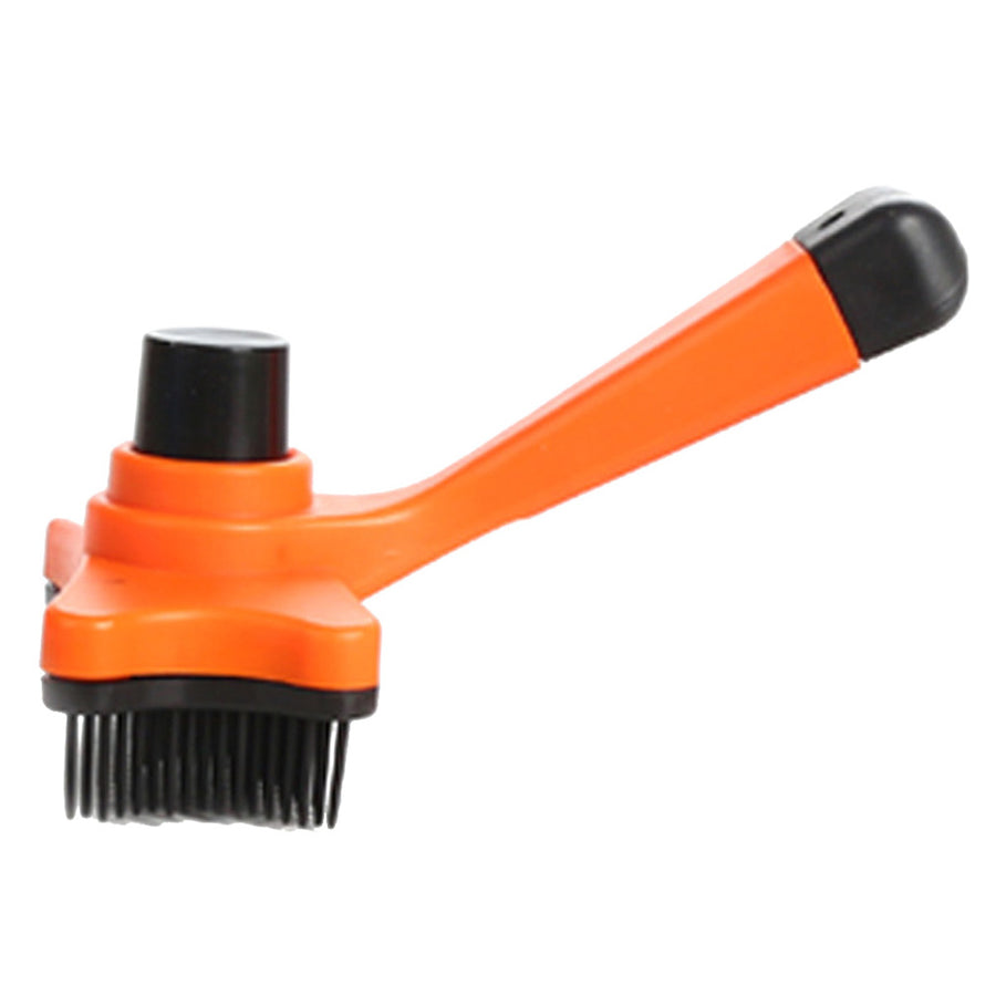 QBLEEV self-cleaning dog hair brush orange
