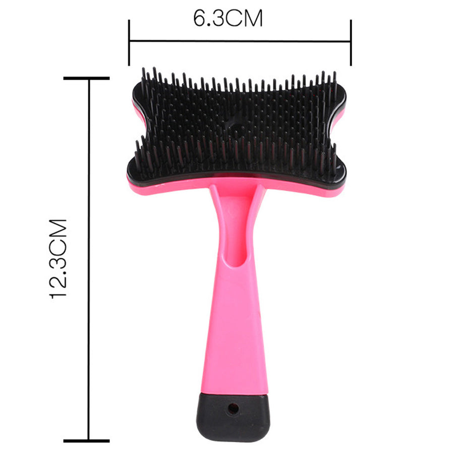 size of QBLEEV self-cleaning dog hair brush
