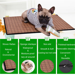 Rattan Dog Cooling Mat