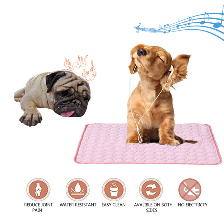 dog silk cooling mat QBLEEV