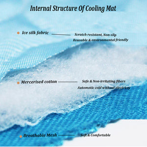 material of dog silk cooling mat QBLEEv