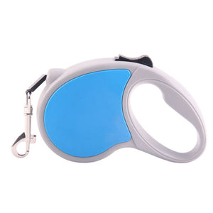 Qbleev retractable dog leash  blue