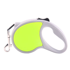 Qbleev retractable dog leash green