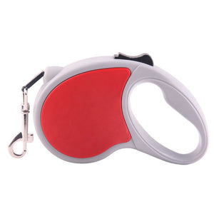 Qbleev retractable dog leash red