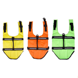 thress dog life vest with Reflective Strips in three colors