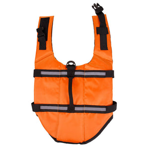 Orange dog life vest with Reflective Strips