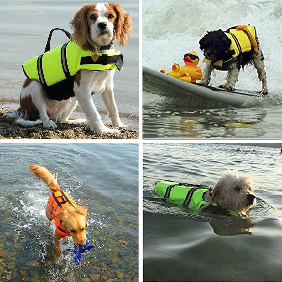 Dog Life Vest With Reflective Strips - Qbleev