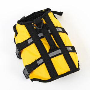 fluorescent yellow dog life jacket