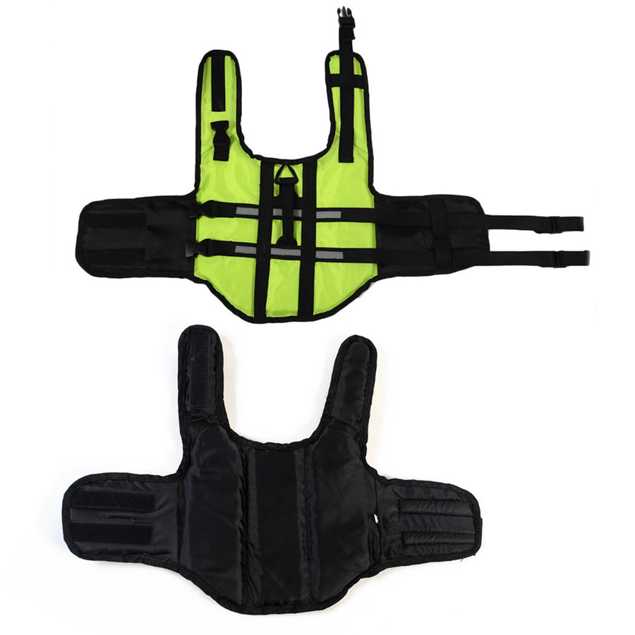 fluorescent green dog life jacket