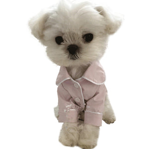 Silk Dog Pajamas QBLEEV Light Pink
