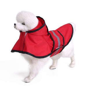 Dog Raincoat, Pet Waterproof Snow Proof Clothes, Lightweight Rain Jacket Poncho