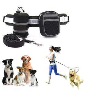 Qbleev hands free dog leash black