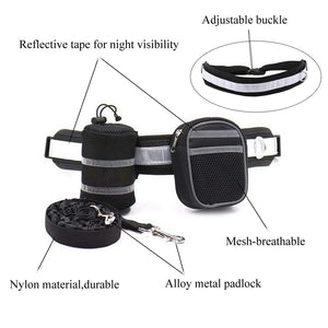 design of Qbleev hands free dog leash black