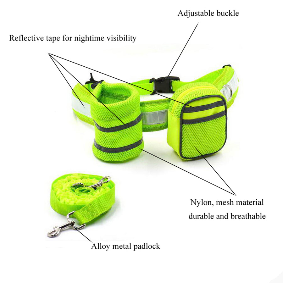 design of Qbleev hands free dog leash green