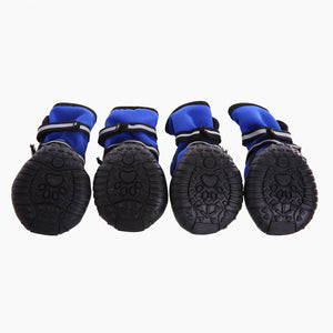 bottom of Waterproof Dog Boots With Reflective Velcro and Rugged Anti-Slip Sole QBLEEV