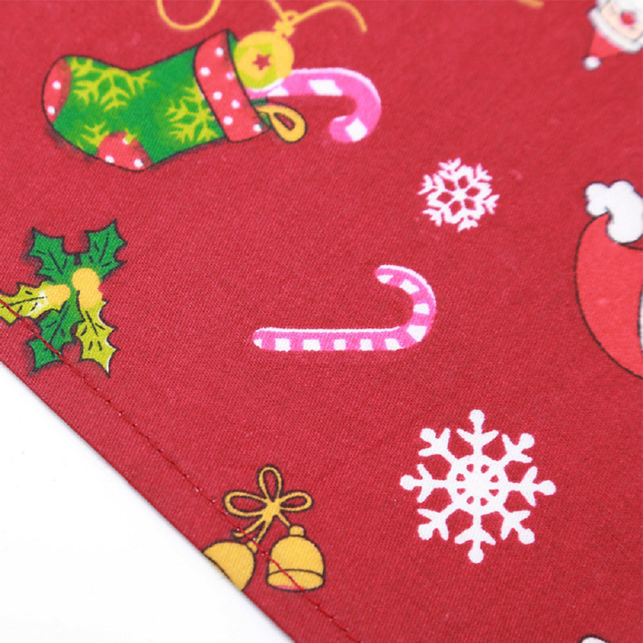 Christmas Santa Claus red on Qbleev dog bandana